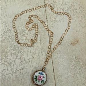Jewelry - Vintage Harvester Watch Pendant Necklace